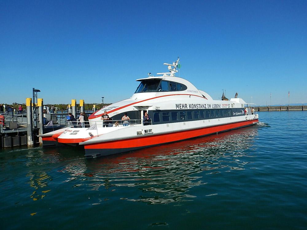 Ein Boot auf dem Bodensee