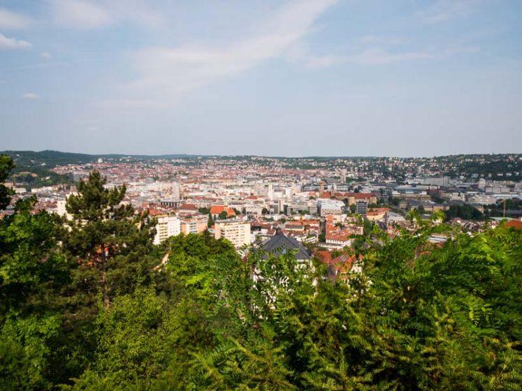 Aussicht auf die Stadt Stuttgart