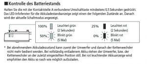 Erklärung Batteriestand Di2