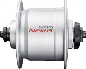 Ein Nabendynamo von SHIMANO ist eine beliebte Wahl bei Fahrradbeleuchtung