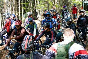 """Die """"Tour of Legends"""" mit Richie Schley vor dem Start beim Bikefestival Riva"""