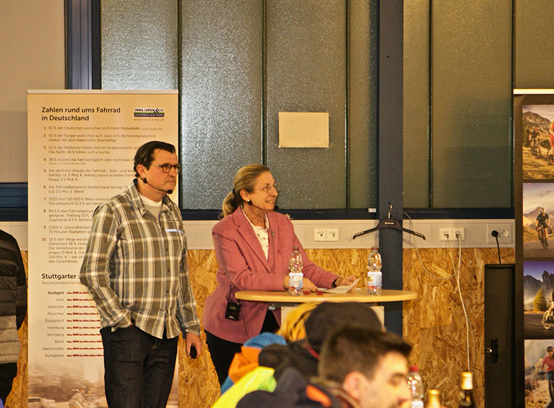 Geschäftsführerin Barbara-Schattmaier und Konrad Weyhmann von Paul Lange