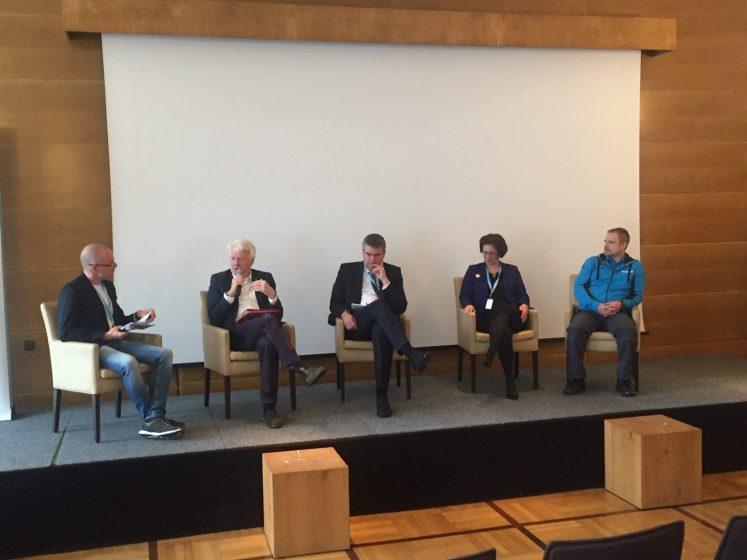 Dortmunder Oberbürgermeister Sierau - Fahrradverkehrsmaßnahmen - Podium