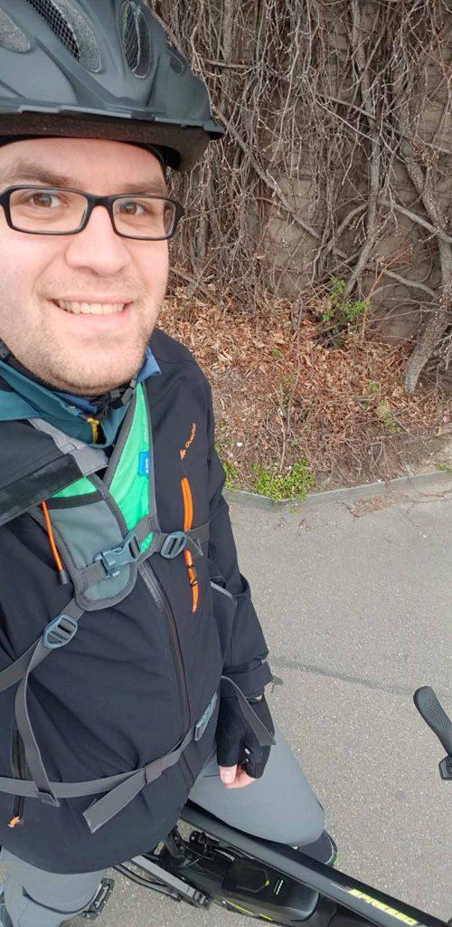 Sören Boockmann auf E-Bike