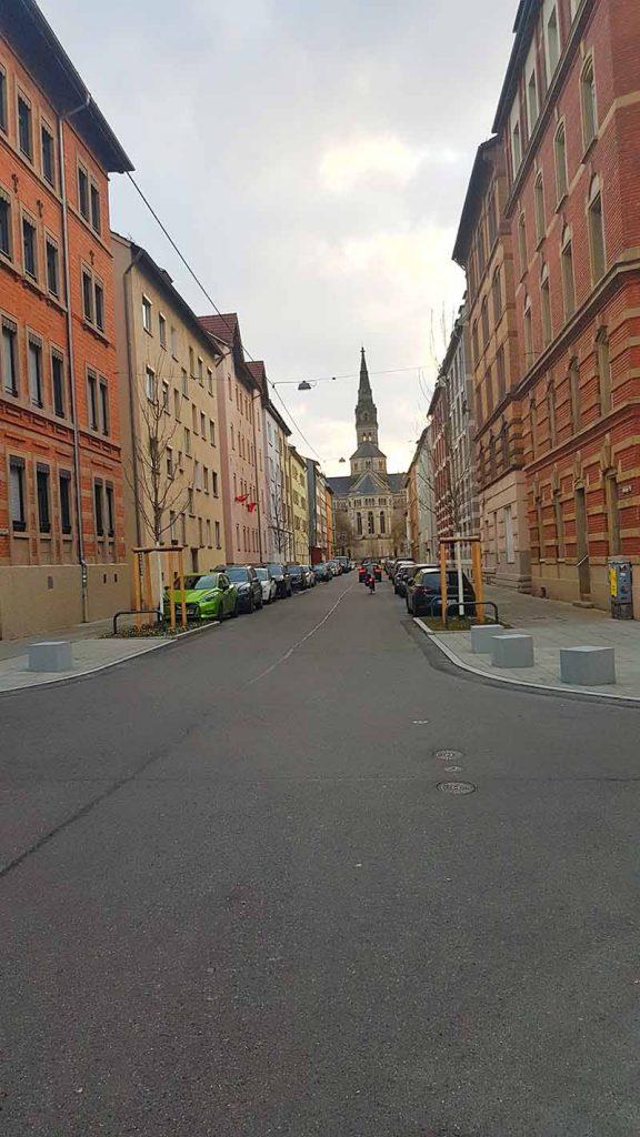 Stuttgart Fahrradstrecke auf Straße