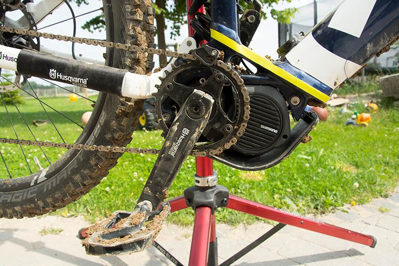 E-Bike-Antrieb dreckig