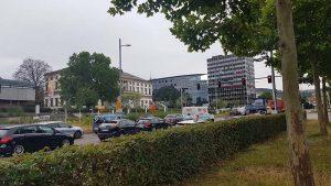 Stuttgart Straße viele Autos