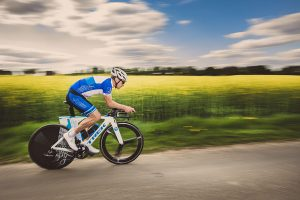 Andreas Niedrig auf dem Fahrrad