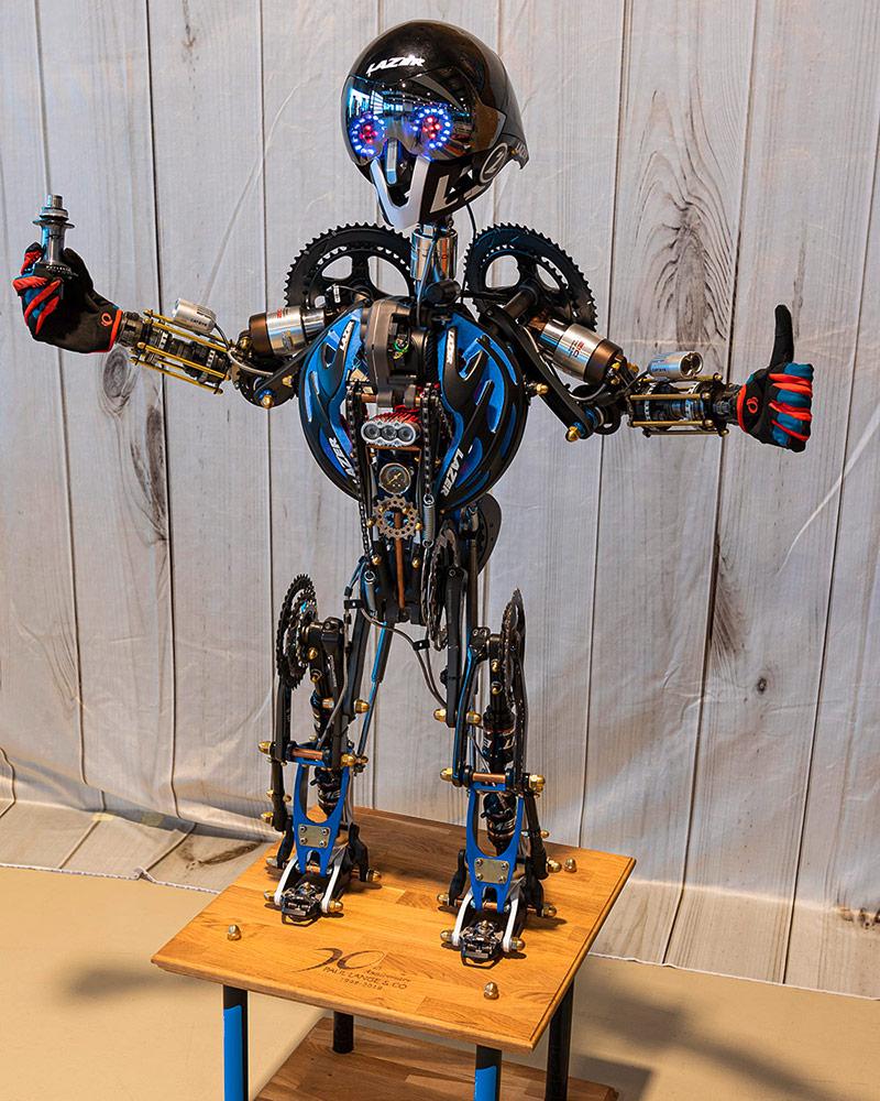 Transformer Roboter - Fahrradkunst