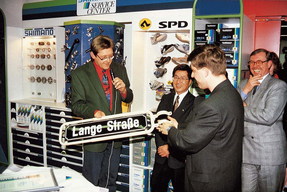 Bernhard Lange und Hans-Michael Holczer - Shimano Service Center