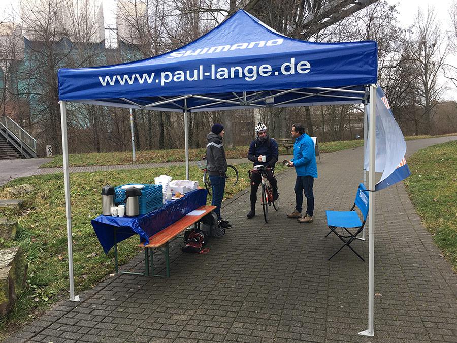 Biker-Frühstück | Zelt | Fahrrad-Frühstück | Paul-Lange