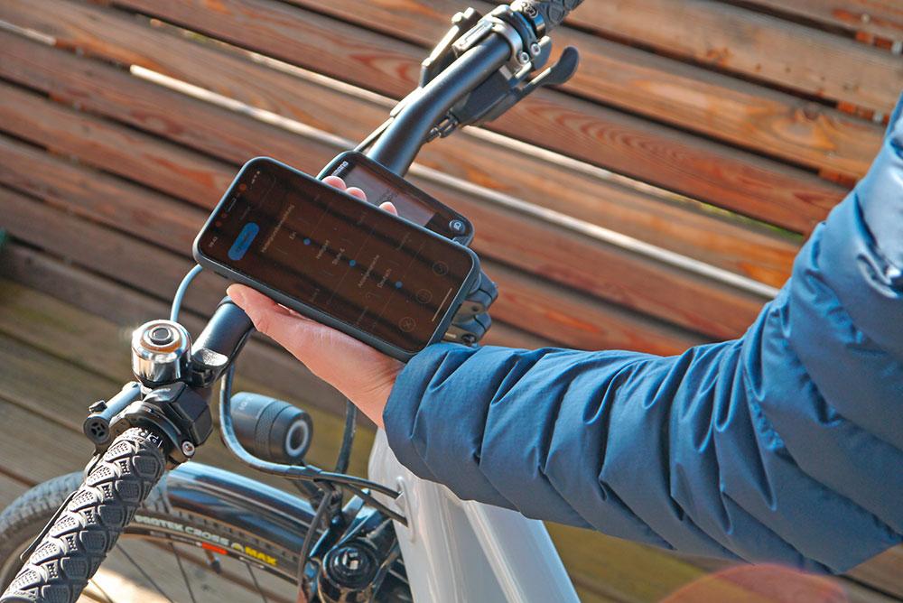 E-Tube PROJECT APP - am E-Bike mit SHIMANO STEPS.