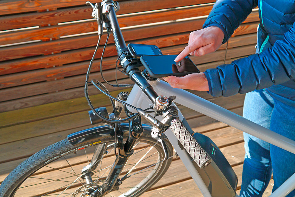 SHIMANO STEPS E-Bike mit E-Tube Project App