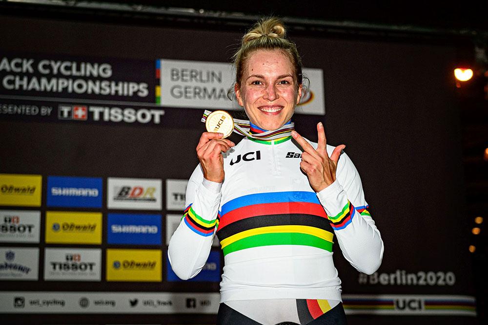 Emma Hinze mit 3x Gold - LKT Brandenburg
