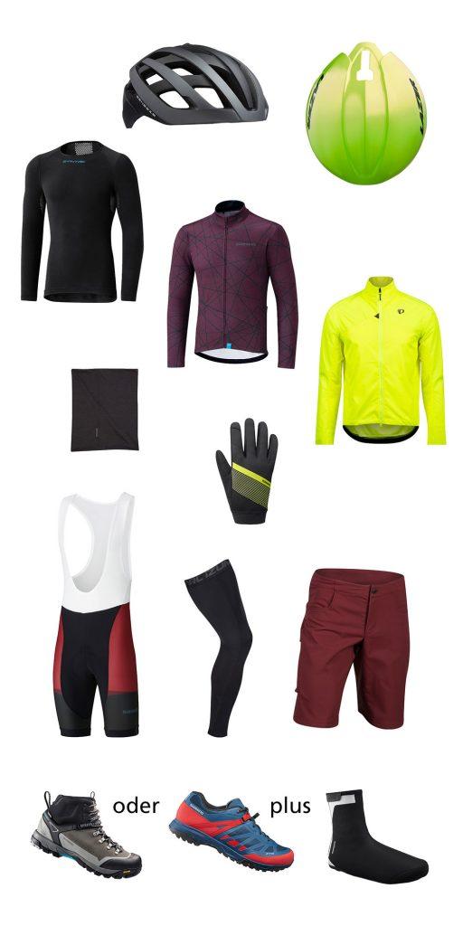 Radbekleidung für morgens - Drei Grad