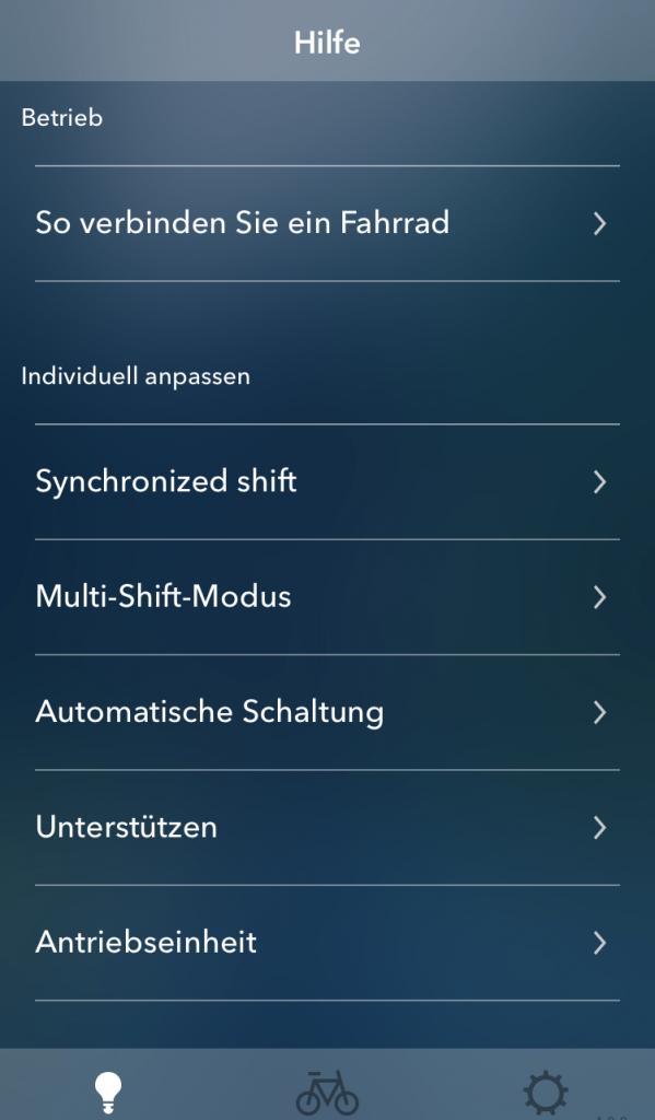 Informationsmenü - E-Tube Project App