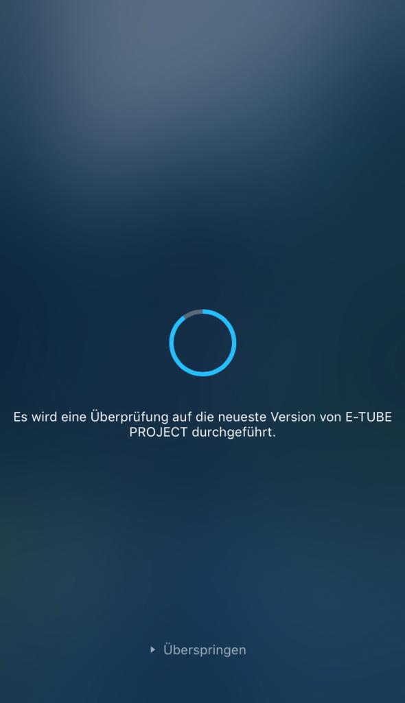 Automatisches Update der E-Tube Project App