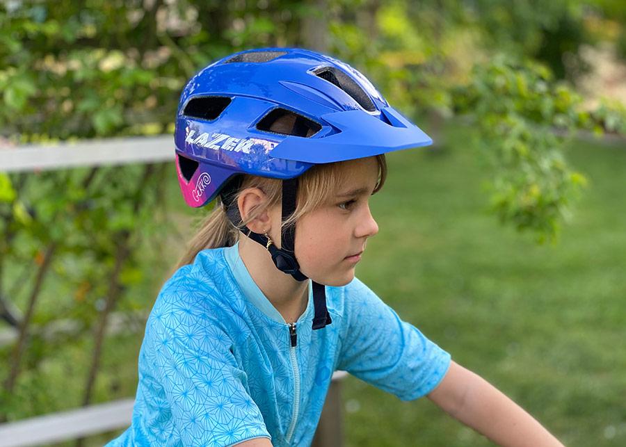 Lazer Gekko Fahrradhelm Kinderhelm für Kinder von Nahem