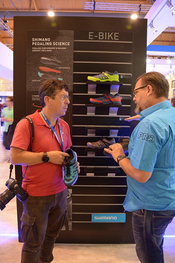 Martin Häußermann bei der Eurobike mit dem ET-5 Schuh