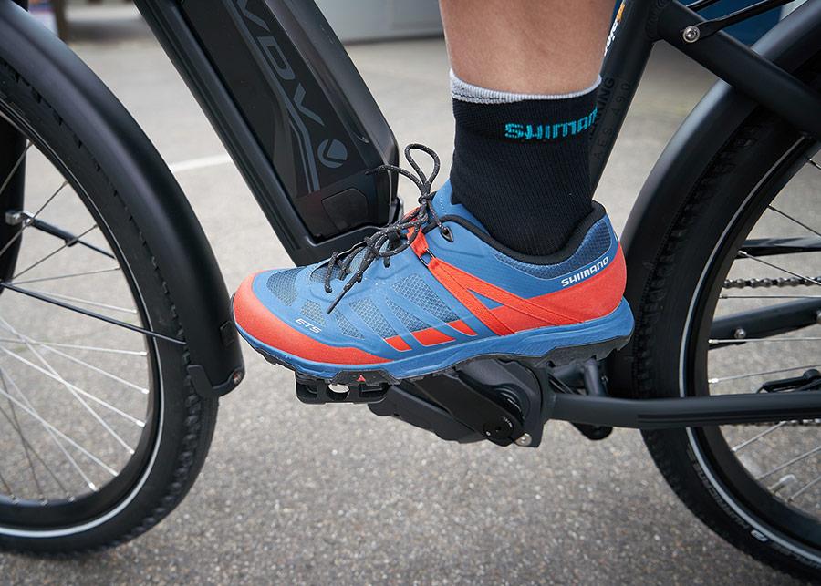 E-Bike Schuh ET5 auf E-Bike