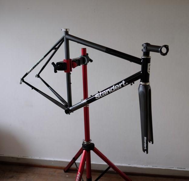 Fahrradrahmen nachher