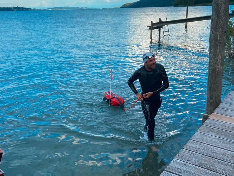 Jonas Deichmann - Deutschland-Triathlon - Schwimmen