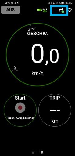 Unterstützungsmodus, Batterieladezustand, Aufzeichnungsfunktion, Tageskilometer