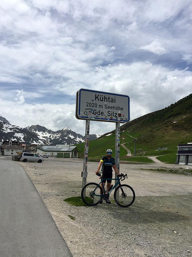 Kühtai auf 2.020 Meter Höhe in der Gemeinde Silz mit Gravelbike - Transalp.