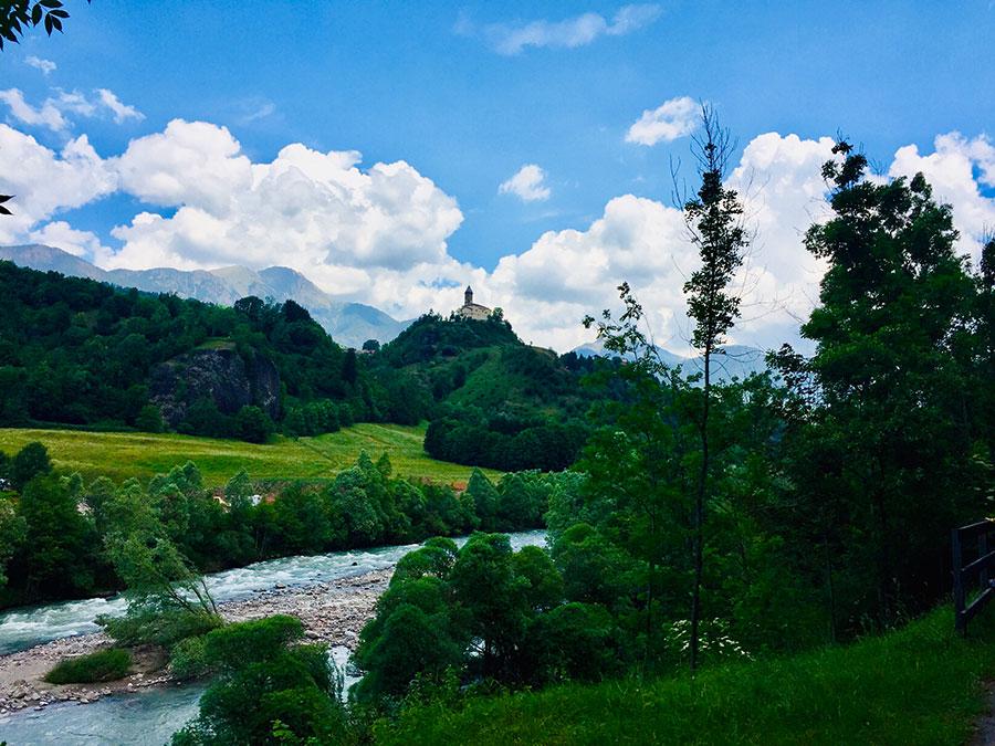 Fassatal - Italien - Radtour durch die Alpen.