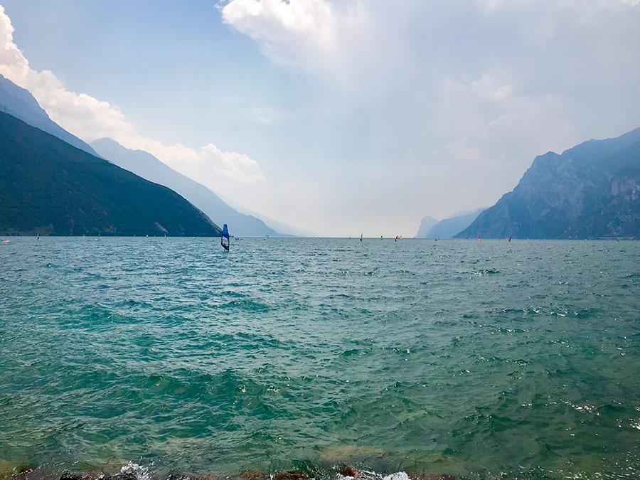 Der Gardasee auf der Transalp-Radtour.