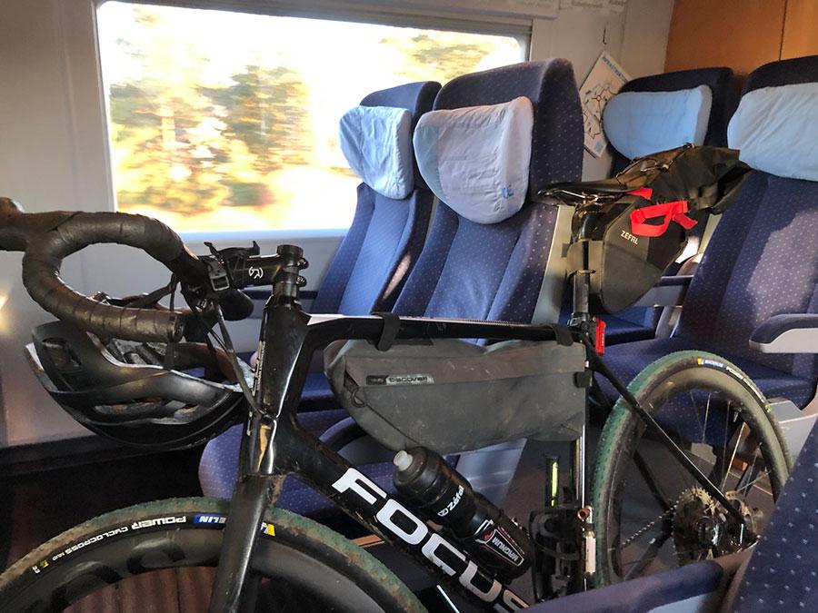 Fahrradmitnahme ICE - unkonventionell nach Dresden.
