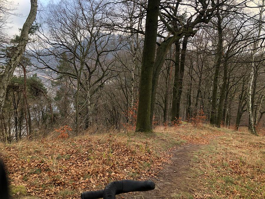 Abfahrt in der Nähe von Pirma - Sachsen-Gravel