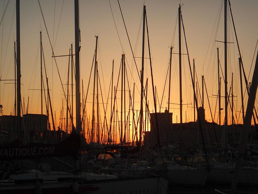 Abendstimmung - Hafen von Marseille - Radtour