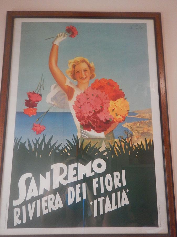 Bild mit Blumen bei San Remo an der Riviera