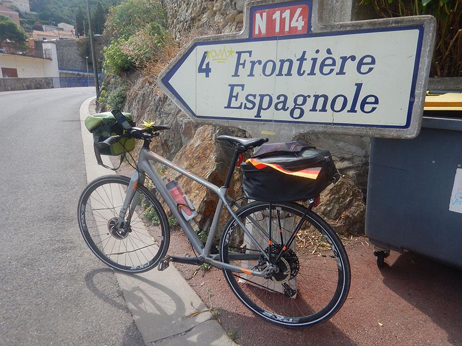 Grenze zu Spanien - Fahrrad - Fahrradtour
