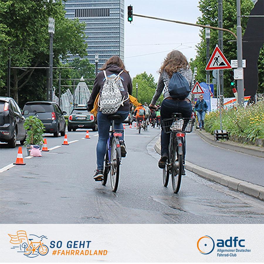 ADFC - Aktionstag für Pop-Up-Radweg
