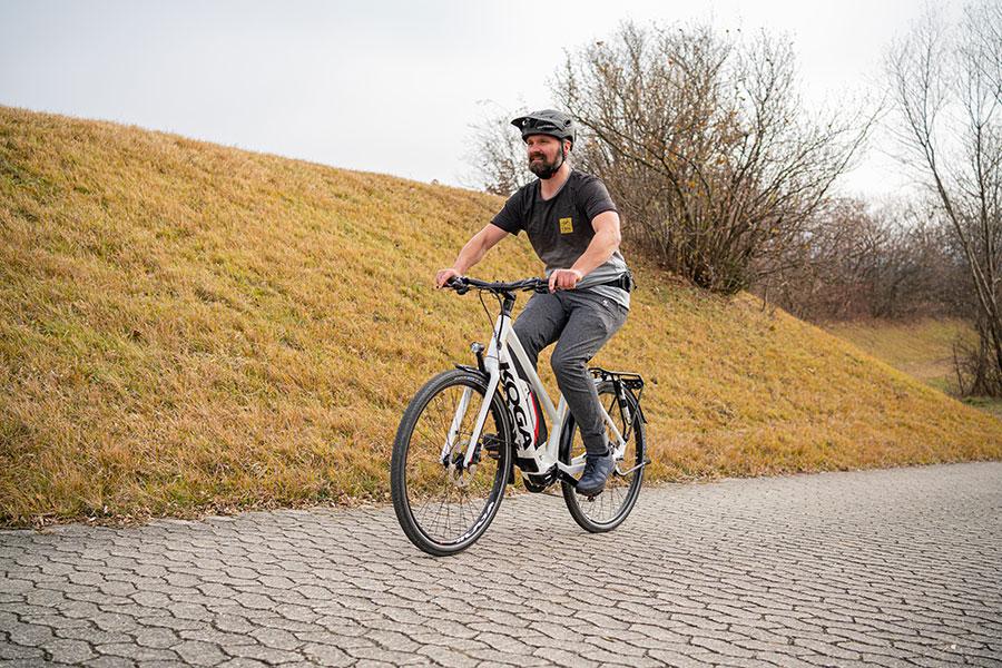 Nach vorne blicken beim Radfahren