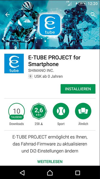 SHIMANO-E-Tube-App